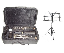 Merano B Flat BLACK Clarinet with Carrying Case , Black Music Stand - $95.00