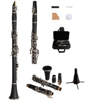 New Bb Black Clarinet with Case+Free Stand,10 Extra Reeds-Band,Orchestra... - $89.99