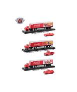 Auto Haulers Coca-Cola 3 Trucks Set 1/64 Diecast Models by M2 Machines 5... - $102.94