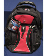 SwissGear ScanSmart Laptop Backpack, Red and Black - $52.93