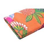 Indian 5 Meter Hand Block Fruit Print Cotton Fabric Orange Dress Material - $22.89
