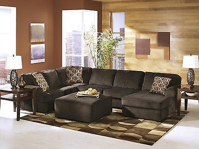Ashley Vista Living Room Sectional 4pcs in Chocolate Left Facing Contemporary
