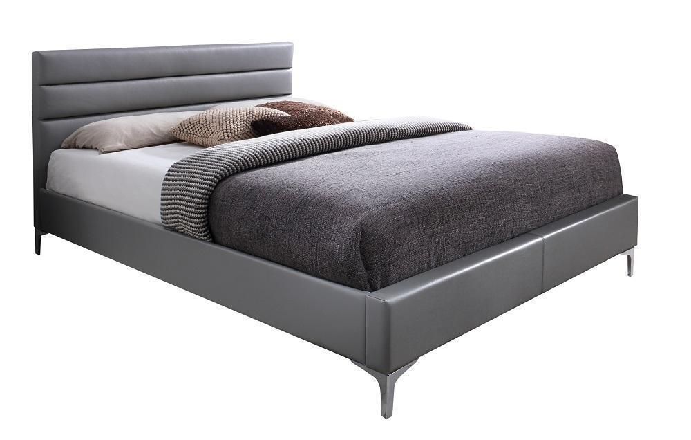 J&M Furniture Nario Platform bed Queen Faux Leather Modern
