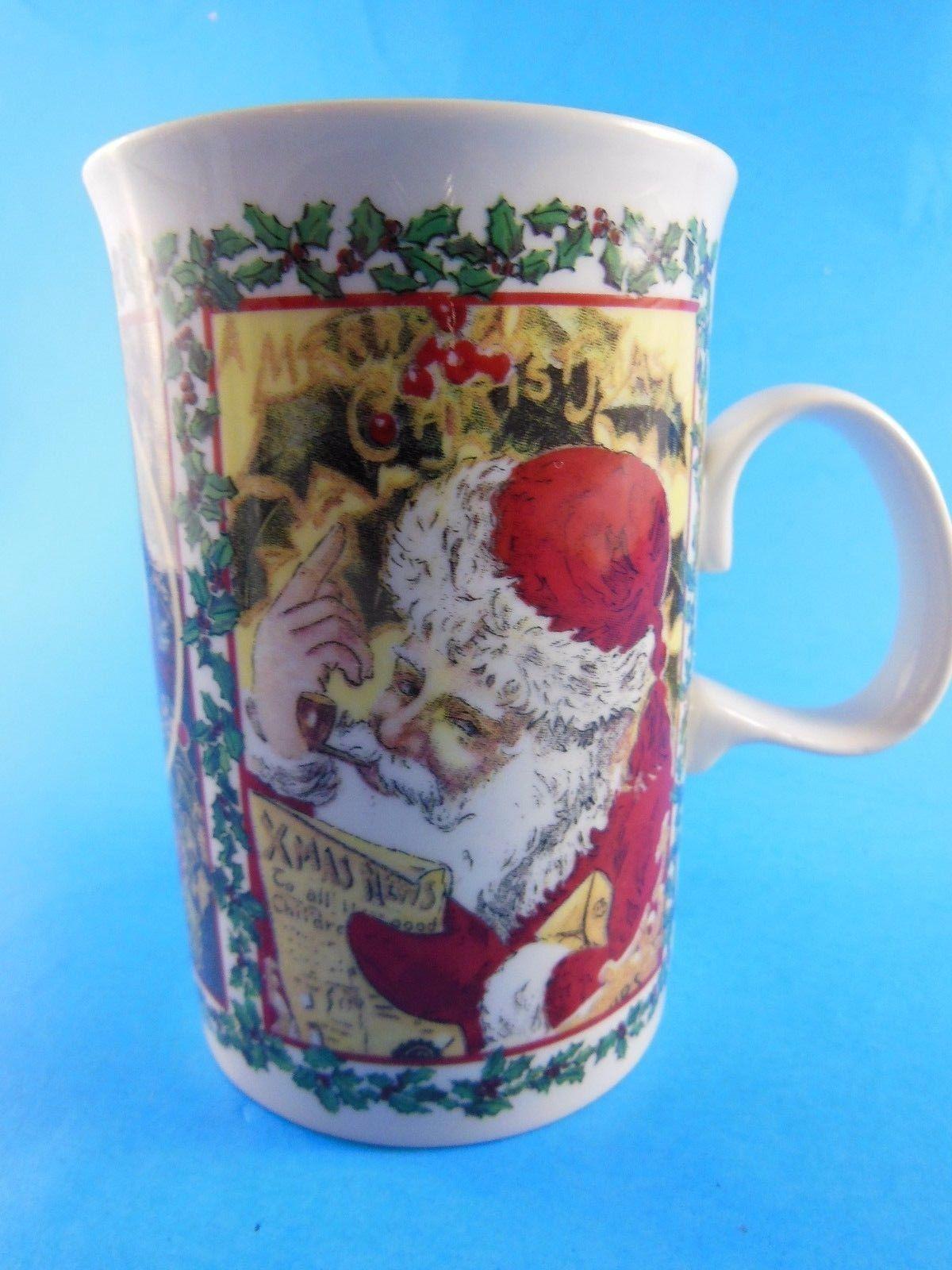 Dunoon Stoneware  Mug Cup  Christmas Wishes Santa Scotland