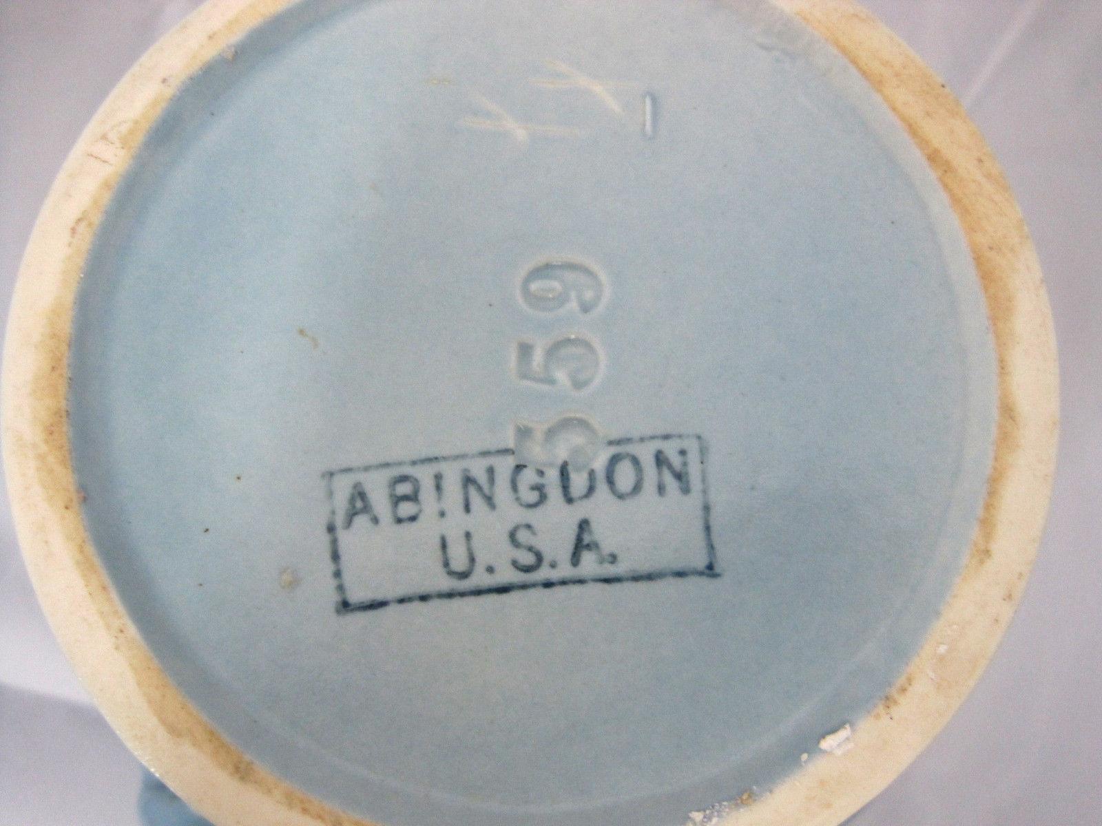 "Abingdon USA #559 Planter Deco Style Vase Hollywood Regency Blue 5.5"" Tall"