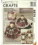 McCall's Sewing Pattern 6874 Bathroom Bunnies Covers New - $9.98