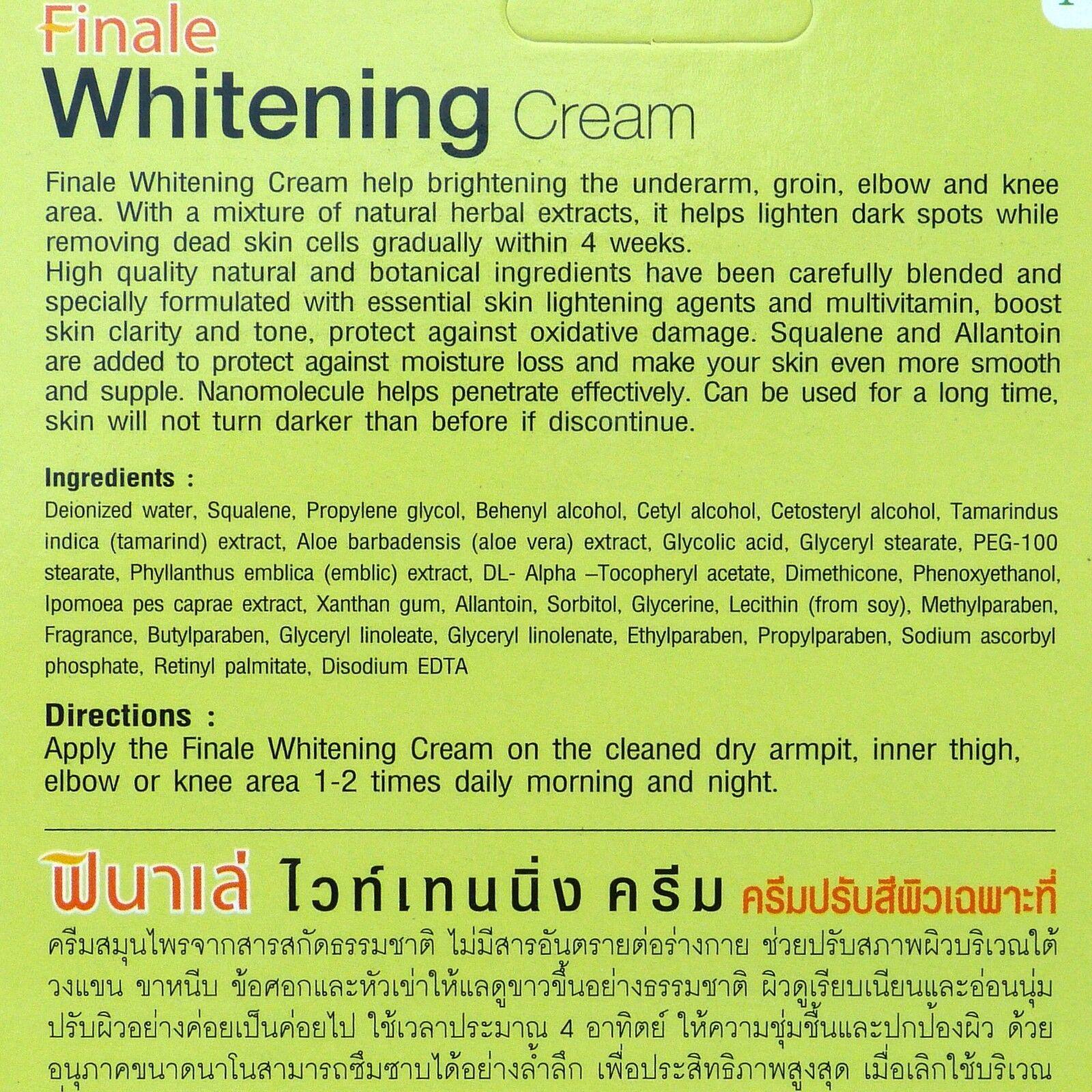 Finale Skin Whitening Cream for Bikini Line Armpits Thighs Elbows Knees 30 grams