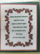 "Janlynn Stamped Cross Stitch Christmas Rose 55-102 Poinsettias Border 12x15"" U2 - $9.89"