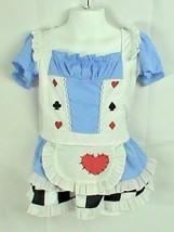 Leg Avenue Alice in Wonderland Dress Hearts Clubs Diamonds Girls Size Small - $14.84