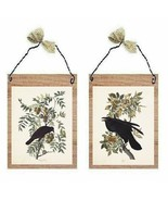 Black Crow Pictures Primitive Birds on Berry Tree Branch Wall Hangings P... - $7.99+