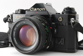 EXC+++++/ Canon AE-1 PROGRAM Black + New FD 50mm F1.4 from Japan #1342 - $259.58