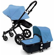 Bugaboo 2015 Cameleon 3 Stroller With Extendable Canopy, All Black/Ice Blue - $1,206.81