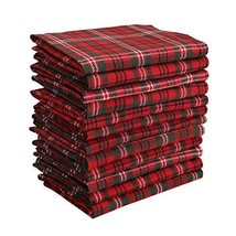 DG Collections Dinner Napkins, 100% Cotton Over Sized Kitchen Napkins, S... - $25.78