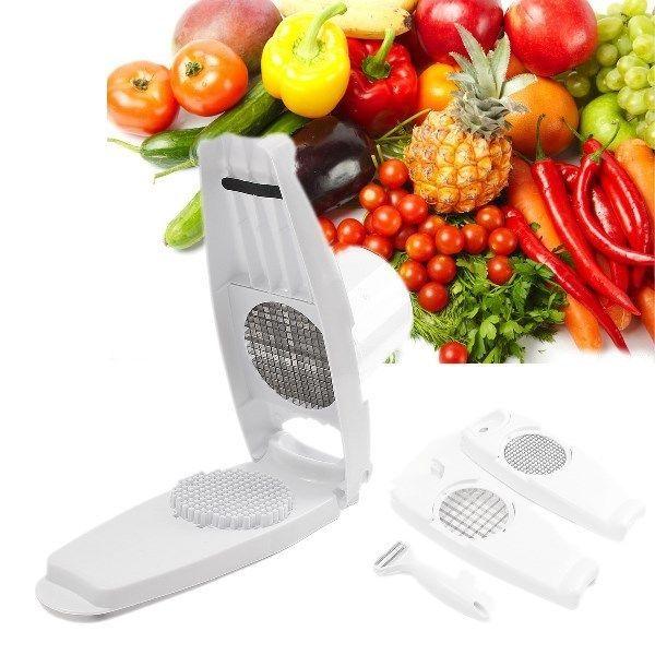 Slicer Cut Fries Vegetable Salad Fruit Peeler Cutter Chopper Grater Kitchen Tool