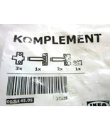 IKEA KOMPLEMENT SOFT CLOSING HINGES 002.145.05 NEW Unopened Pack of 3 - $14.90