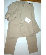 New Mens 42 RG NWT Designer Piombo Suit Beige Tan Italy 54 Cotton 36 35 ... - $1,449.00