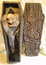 PAPER MACHE~ROTTING GHOUL~COFFIN~SKELETON HANDS~RISE GRAVE~HALLOWEEN DEC... - £17.90 GBP
