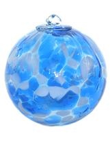 5 Inch Clouds Art Glass Friendship Ball - $26.00