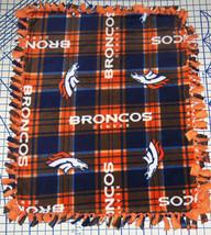 """Denver Broncos Baby Blanket Fleece Pet Lap Navy Orange 30"""" x 24"""" NFL Foo... - $36.95+"""