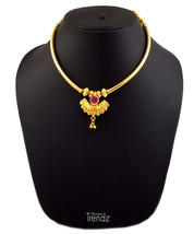 Womens Trendz Chand Paip Thushi 24K Gold Plated Alloy Necklace - $33.00