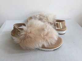 Ugg Holly Soft Ochre Fluffie Sheepskins Strap Slippers Us 7 / Eu 38 / Uk 5.5 - $91.63