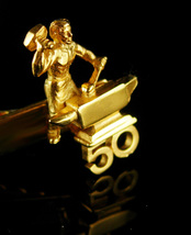 Blacksmith Tieclip Gift 50 years service Vintage metalsmith tie clip Art... - $110.00