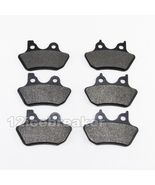 Front + Rear Brake Pads for Dyna Softail FLHTC FLHTCi Electra FLHR Road ... - $21.99