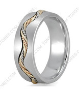 10K GOLD WEDDING BAND TRI COLOR MULTI TONED BRAIDED WEDDING RING MENS WO... - $406.73