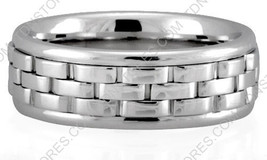10K Gold 7mm Handmade Wedding Band, 10K Solid Gold, Size 4-13 Made in USA - $406.73