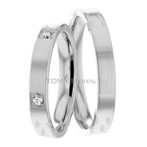 Wedding Bands, 3.50mm Wide, 18K Solid Gold His & Hers, Size 4-13, Made in USA - $753.90