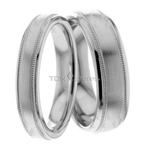 Wedding Bands, 6mm & 4mm Wide, 18K Solid Gold His & Hers, Size 4-13, Made in USA - $795.07