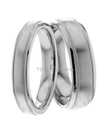 Wedding Bands, 6mm & 4mm Wide, 18K Solid Gold His & Hers, Size 4-13, Mad... - $795.07