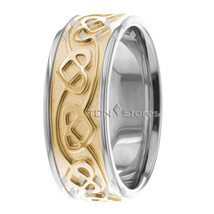 10K Gold 8mm Celtic Heart Wedding Bands Wedding Rings Celtic Heart Weddi... - $558.09