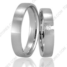 Wedding Bands, 4mm Wide, 18K Solid Gold His & Hers, Size 4-13, Made in t... - $742.00