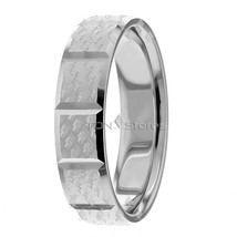 Wedding Bands, 5.50mm, 10K Solid Gold Designer Ring, Size 4-13 Made in USA - $256.19