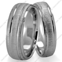 14K Solid Gold Diamond Cut His & Hers Wedding Bands, 7mm, Size 4-13, Made in USA - $915.85