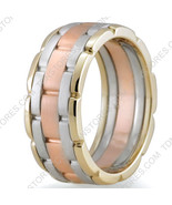 14K Gold, 9mm Handmade Wedding Band, Ring Size 4-13, Made in the USA - $679.70