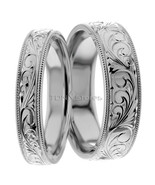 14K GOLD VINTAGE MATCHING HIS & HERS WEDDING BANDS RING VINTAGE MENS WOM... - $828.93