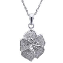 """Sterling Silver Jewelry, White Cubic Zirconia Pendant, 17.5"""" Chain - $44.84"""