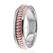 10K Gold 6mm Handmade Wedding Band, Ring Size 4-13 Made USA - $350.63