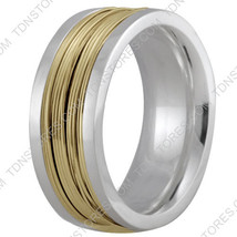 10K Gold 9mm Handmade Wedding Band, Ring Size 4-13 Made USA - $522.40