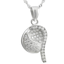 """Sterling Silver Jewelry, White CZ Charm Pendant, 17.5"""" Extension Chain - $34.46"""