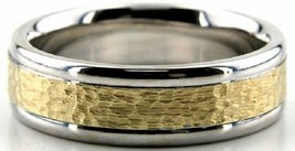 10K GOLD TWO TONE WEDDING BANDS MENS WEDDING BANDS WOMENS WEDDING RINGS ... - $279.57