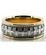 14K Gold, 7mm Handmade Wedding Band, Ring Size 4-13, Made in the USA - $530.19