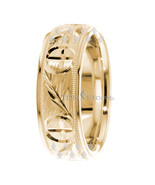 Men's 7mm Cross Wedding Band 10k Solid Yellow Gold Ring Religious Christ... - $306.45