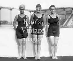 Vintage Flapper Trio Women Swimsuit Photo late 1920s Flappers Jazz Prohi... - $8.90