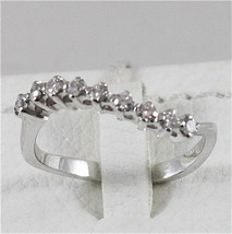 18K WHITE GOLD ETERNITY RING WITH DIAMONDS MADE IN ITALY