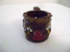 Vintage Black Americana face Pipe Shaped Ashtray - $20.00