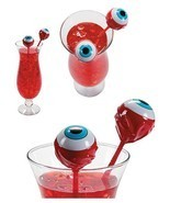 12 Zombie Eyeball Cocktail Drink Swizzles - Halloween Party Stirs / Bar ... - $18.59 CAD