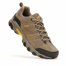 NIB Men's FILA Travail Trail Running Shoes Brown Gold image 1